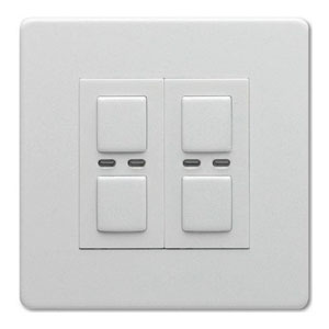 LightwaveRF WHITE 2 Gang Dimmer 250W Master