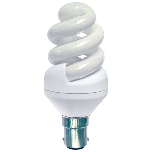Pro-Lite 11w BC 2700K Energy Saving Helix Spiral Lamp Bulb Compact Fluorescent
