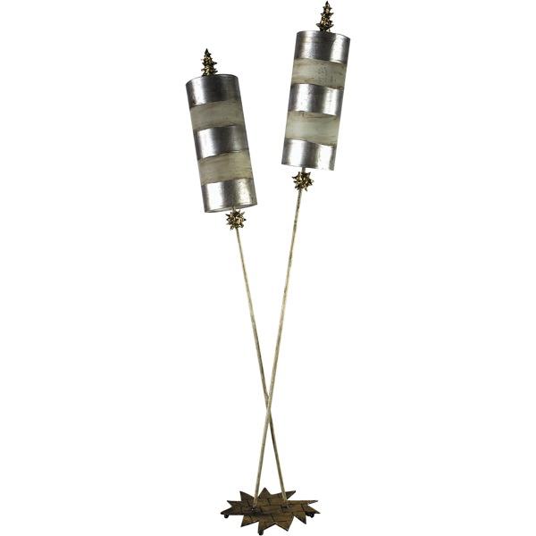 Elstead fbnettlelx sfl flambeau nettle luxe floor lamp silver aloadofball Gallery