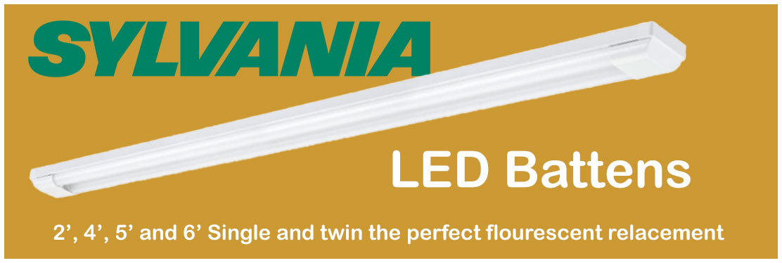 Sylvania Cool White LED Battens